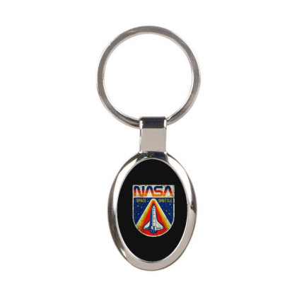 Nasa Vintage Oval Keychain Designed By Colorfull Art