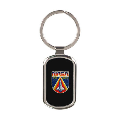 Nasa Vintage Rectangle Keychain Designed By Colorfull Art