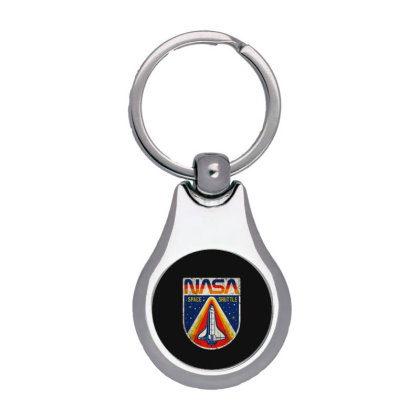 Nasa Vintage Silver Pear Keychain Designed By Colorfull Art
