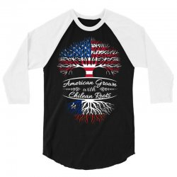 American Grown with Chilean roots 3/4 Sleeve Shirt | Artistshot