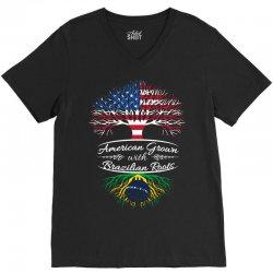 American Grow with Brazilian roots V-Neck Tee | Artistshot