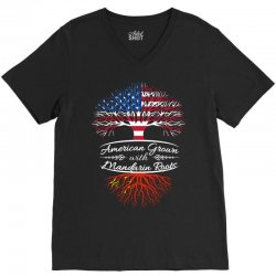 American Grown with Mandarin roots V-Neck Tee | Artistshot