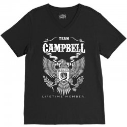 Team Campbell Lifetime Member V-Neck Tee | Artistshot