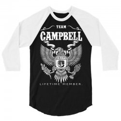 Team Campbell Lifetime Member 3/4 Sleeve Shirt | Artistshot