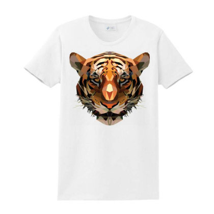 Tiger Head Vector Ladies Classic T-shirt Designed By Chiks