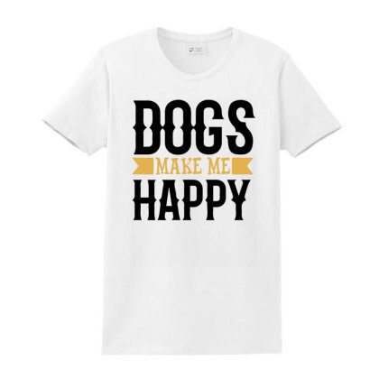 Dogs And Makes Me Happy For Light Ladies Classic T-shirt Designed By Sengul