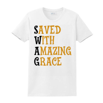 Saved With Amazing Grace For Light Ladies Classic T-shirt Designed By Sengul
