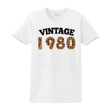 Vintage 1980 Ladies Classic T-shirt Designed By Ashlıcar