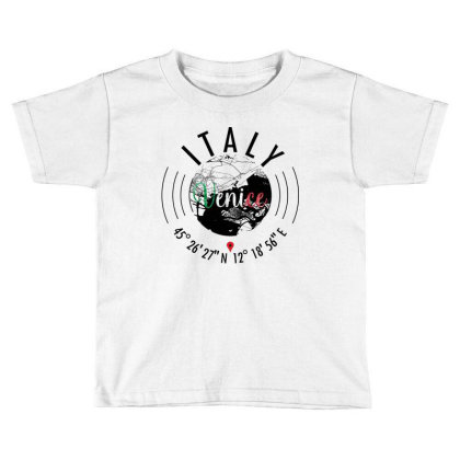 Venice Road Map Art - Earth Tones Toddler T-shirt Designed By Artistic Paradigms
