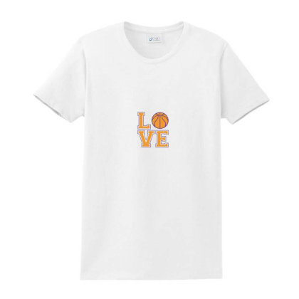 Basketball Love Ladies Classic T-shirt Designed By Laina Melati