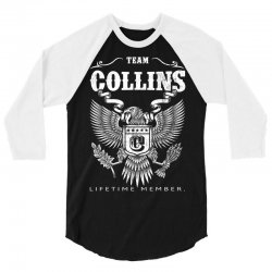 Team Collins Lifetime Member 3/4 Sleeve Shirt | Artistshot