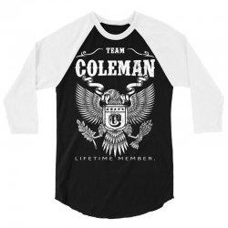 Team Coleman Lifetime Member 3/4 Sleeve Shirt | Artistshot