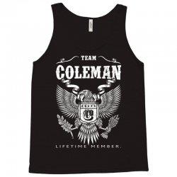 Team Coleman Lifetime Member Tank Top | Artistshot