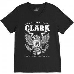 Team Clark Lifetime Member V-Neck Tee   Artistshot