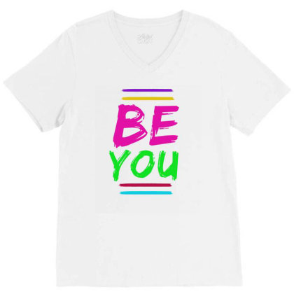 Be You V-neck Tee Designed By Alparslan Acar