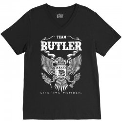 Team Butler Lifetime Member V-Neck Tee   Artistshot
