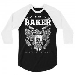 Team Baker Lifetime Member 3/4 Sleeve Shirt | Artistshot