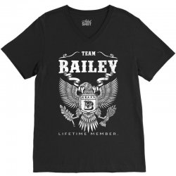 Team Bailey Lifetime Member V-Neck Tee | Artistshot