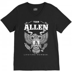 Team Allen Lifetime Member V-Neck Tee | Artistshot