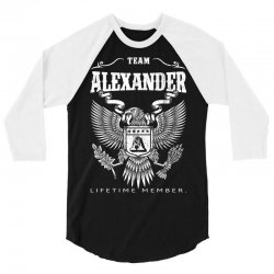 Team Alexander Lifetime Member 3/4 Sleeve Shirt | Artistshot
