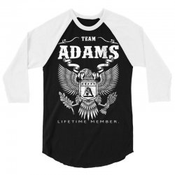 Team Adams Lifetime Member 3/4 Sleeve Shirt | Artistshot