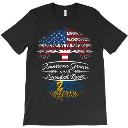 American Grown With Swedish Roots T-shirt Designed By Davidph