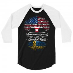 American Grown with Swedish roots 3/4 Sleeve Shirt | Artistshot