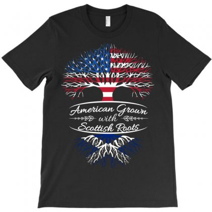 American Grown With Sottish Roots T-shirt Designed By Davidph