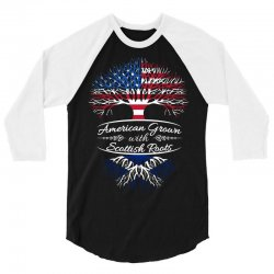 American Grown with Sottish roots 3/4 Sleeve Shirt | Artistshot