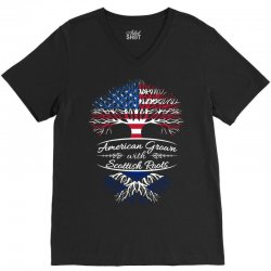 American Grown with Sottish roots V-Neck Tee | Artistshot