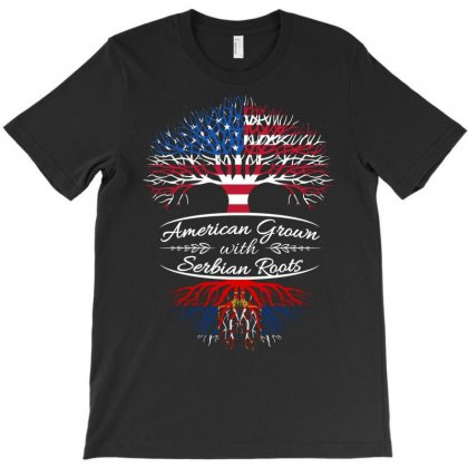 American Grown With Serbian Roots T-shirt Designed By Davidph