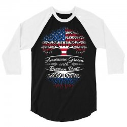 American Grown with Russian roots 3/4 Sleeve Shirt   Artistshot