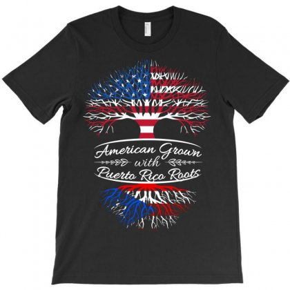 American Grown With Puerto Rican Roots T-shirt Designed By Davidph