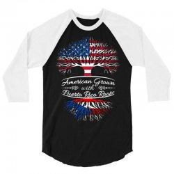 American Grown with Puerto Rican roots 3/4 Sleeve Shirt | Artistshot