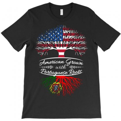 American Grown With Portugues Roots T-shirt Designed By Davidph