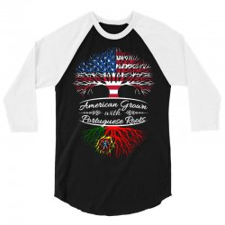 American Grown with Portugues roots 3/4 Sleeve Shirt | Artistshot