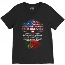 American Grown with Portugues roots V-Neck Tee | Artistshot