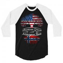 American Grown with Norwegian roots 3/4 Sleeve Shirt | Artistshot