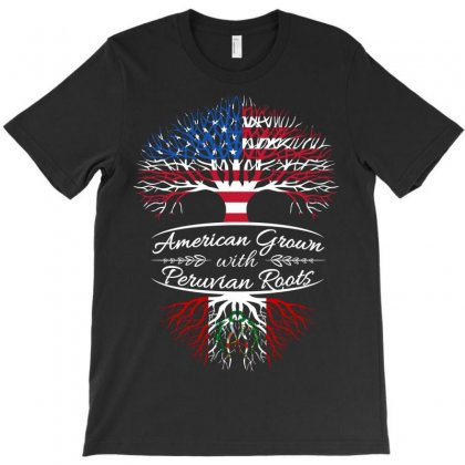 American Grown With Peruvian Roots T-shirt Designed By Davidph