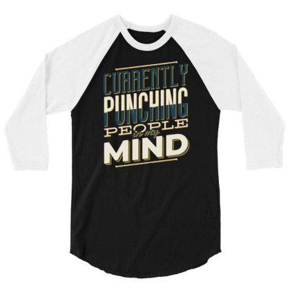 Punching People 3/4 Sleeve Shirt Designed By Panduart
