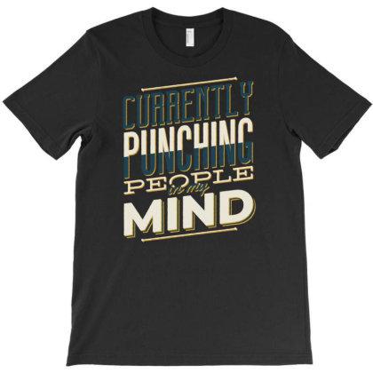 Punching People T-shirt Designed By Panduart