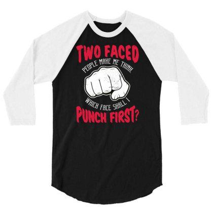 Punch 3/4 Sleeve Shirt Designed By Panduart