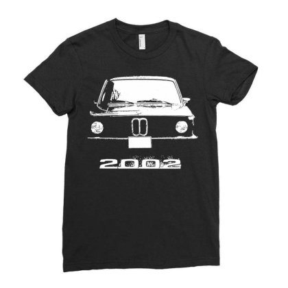 2002 Retro Pic Classic Automotive Ladies Fitted T-shirt Designed By Schulz-12