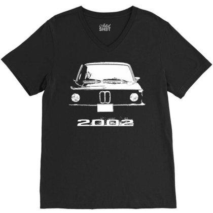 2002 Retro Pic Classic Automotive V-neck Tee Designed By Schulz-12