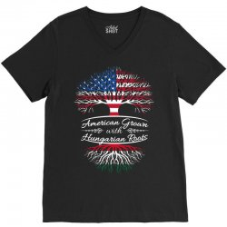 American Grown with Hungarian roots V-Neck Tee | Artistshot