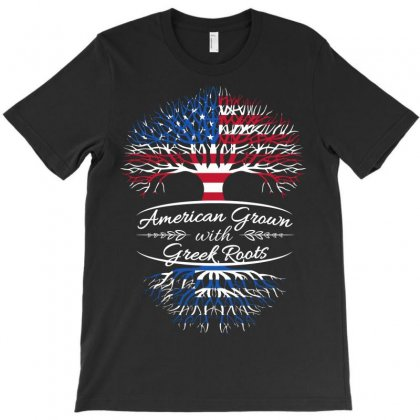 American Grown With Greek Roots T-shirt Designed By Davidph
