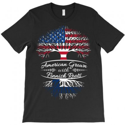 American Grown With Finnish Roots T-shirt Designed By Davidph