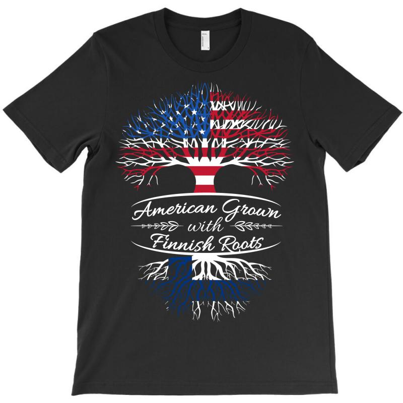 American Grown With Finnish Roots T-shirt | Artistshot