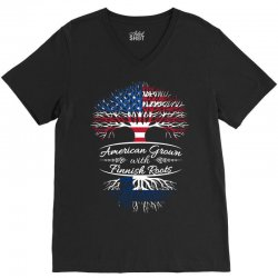 American Grown with Finnish roots V-Neck Tee | Artistshot