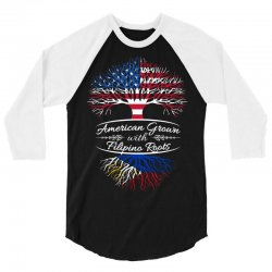 American Grown with Filipino roots 3/4 Sleeve Shirt | Artistshot
